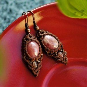Rhodocrosite Earring